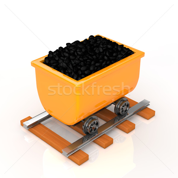transport coal on a tram Stock photo © taiyaki999