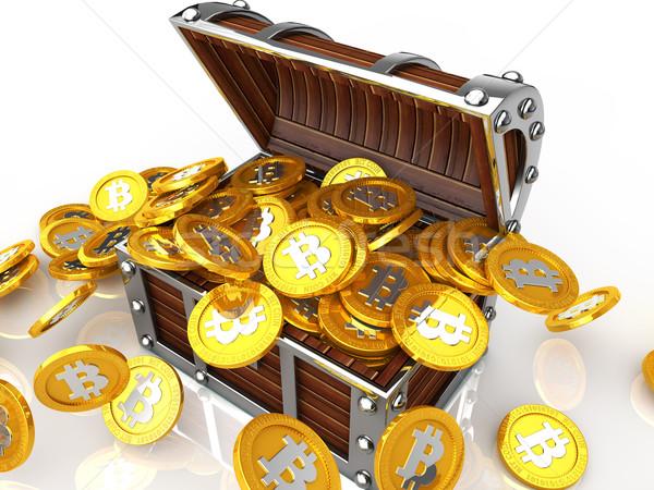 Completo bocado moeda imagem dinheiro Foto stock © taiyaki999