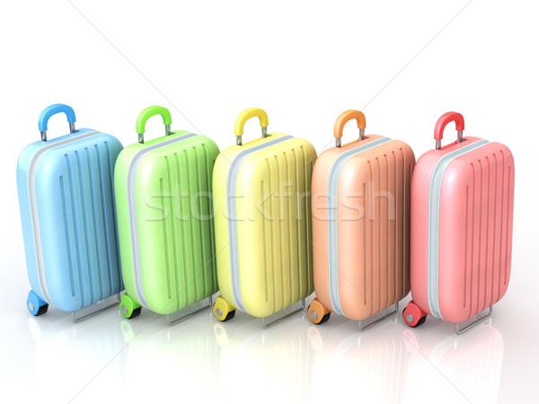場合 袋 白 スーツケース ホイール ストックフォト © taiyaki999