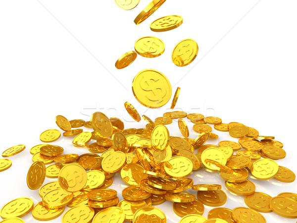 Dollár arany érme érmék Stock fotó © taiyaki999