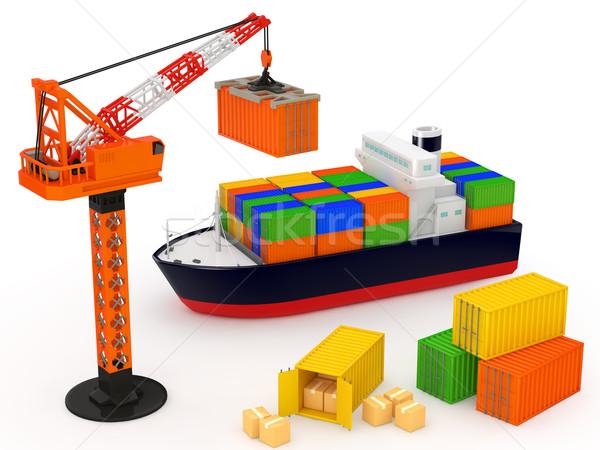 物流 貨物船 白 ボート 船 輸送 ストックフォト © taiyaki999