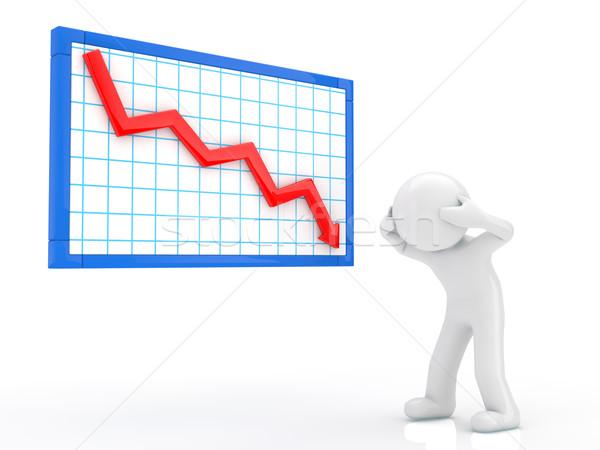 Leszármazás grafikon felirat pénzügy piac fehér Stock fotó © taiyaki999