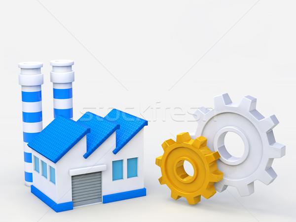 業界 産業 画像 ギア 工場 建物 ストックフォト © taiyaki999