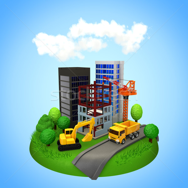 город развития здании строительство дизайна технологий Сток-фото © taiyaki999