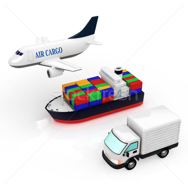物流 世界 背景 トラック 飛行機 業界 ストックフォト © taiyaki999