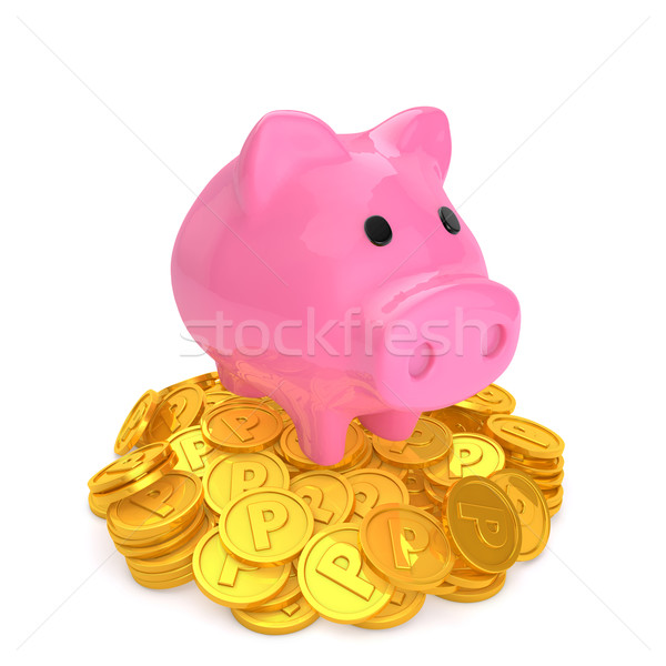 貯金 先頭 ポイント コイン お金 幸せ ストックフォト © taiyaki999