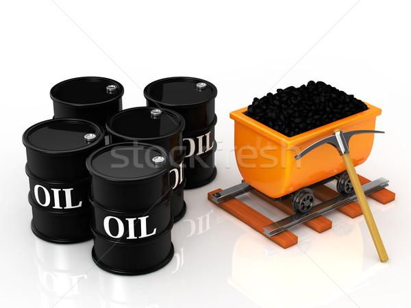 石炭 油 バレル 市場 電源 白 ストックフォト © taiyaki999