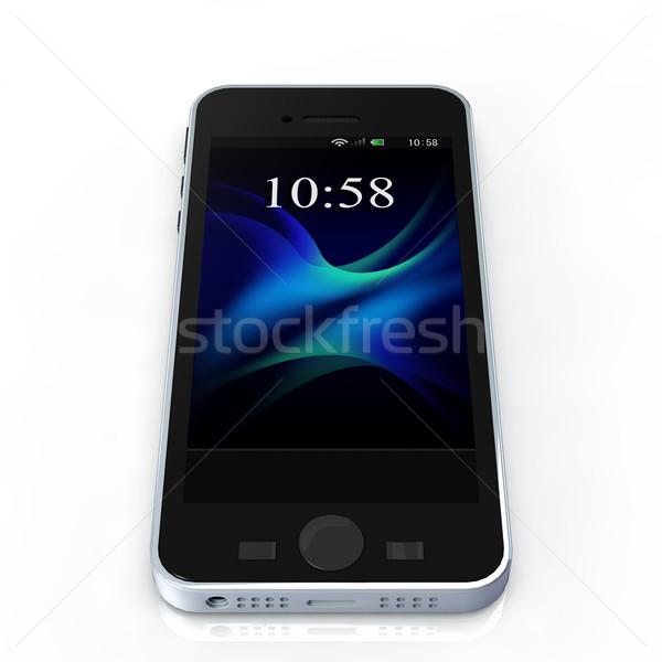 изображение смартфон белый компьютер телефон Сток-фото © taiyaki999