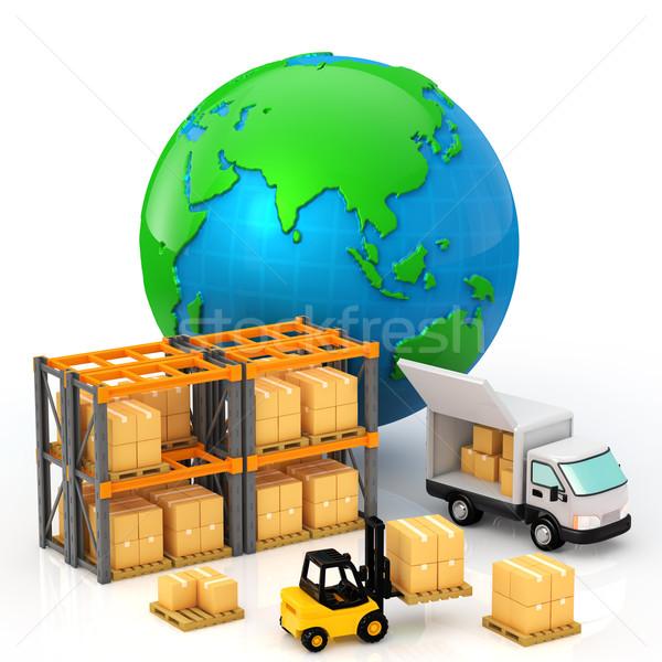 ディストリビューション 画像 送料 貨物 ビジネス 業界 ストックフォト © taiyaki999