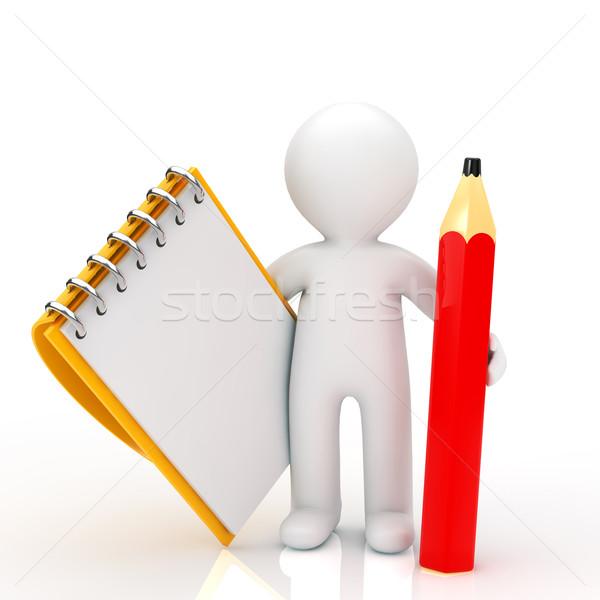 человек бизнеса бумаги пер карандашом Сток-фото © taiyaki999