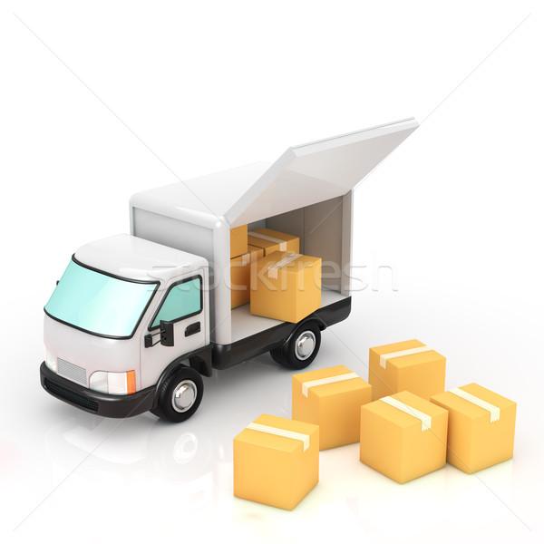トラック ビジネス ボックス 産業 サービス 輸送 ストックフォト © taiyaki999
