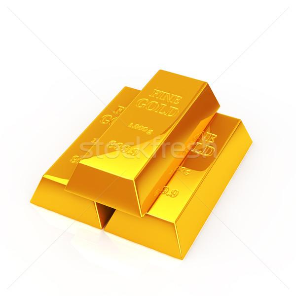 Aranyrúd arany rácsok egymásra pakolva bár pénzügy Stock fotó © taiyaki999