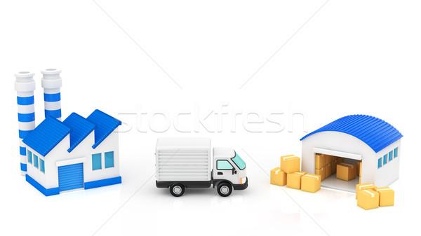 物流 建物 ボックス 建物 産業 サービス ストックフォト © taiyaki999