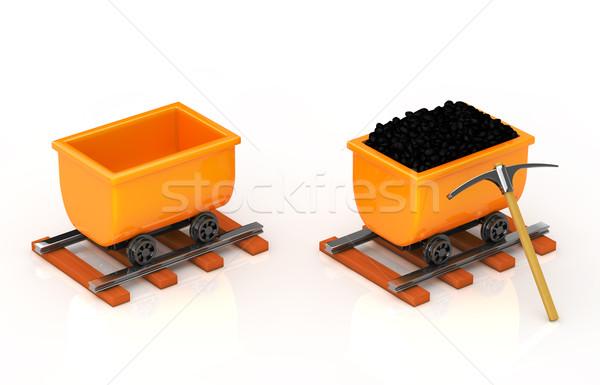 Tranvía vacío industria poder blanco idea Foto stock © taiyaki999