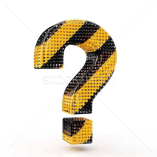 Stockfoto: Vraagteken · waarschuwing · kleur · abstract · teken · denk