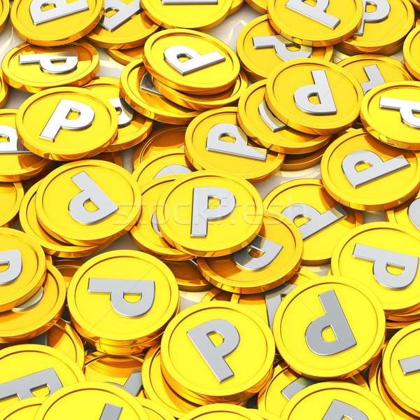 Золотые монеты точки монеты торговых знак службе Сток-фото © taiyaki999