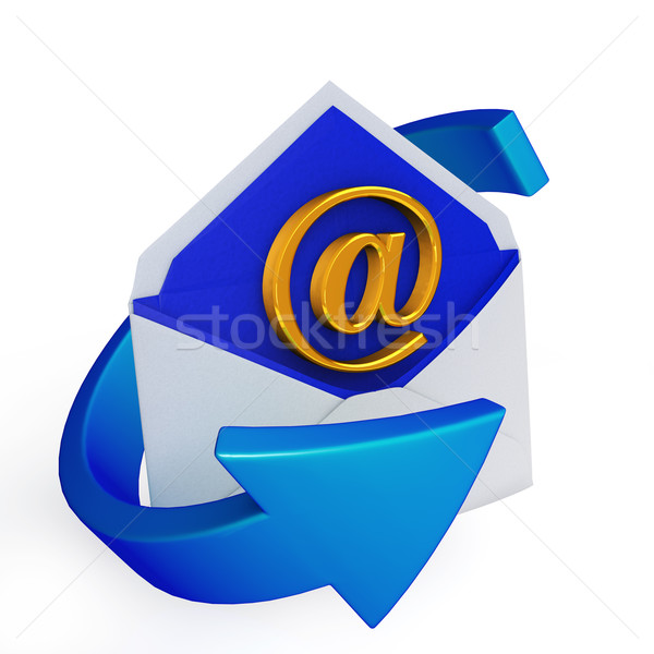 Email ikon fehér technológia háttér kommunikáció Stock fotó © taiyaki999