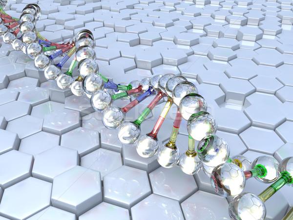 DNS modell egészség háttér gyógyszer tudomány Stock fotó © taiyaki999