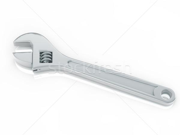 Csavarkulcs háttér fém ipari tárgy ezüst Stock fotó © taiyaki999