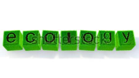 экология изображение газона куб характер природы Сток-фото © taiyaki999