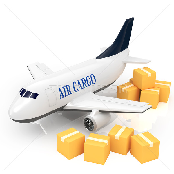 Cargo jet Stock photo © taiyaki999