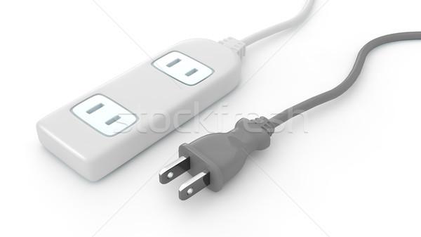 Сток-фото: Plug · гнездо · бизнеса · фон · кабеля · электроэнергии