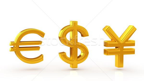 валюта символ банка рынке успех доллара Сток-фото © taiyaki999