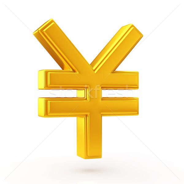 Altın yen simge para dizayn finanse Stok fotoğraf © taiyaki999