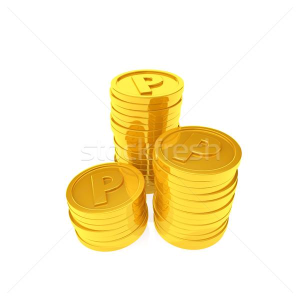 Pont érmék boldog vásárlás felirat szolgáltatás Stock fotó © taiyaki999