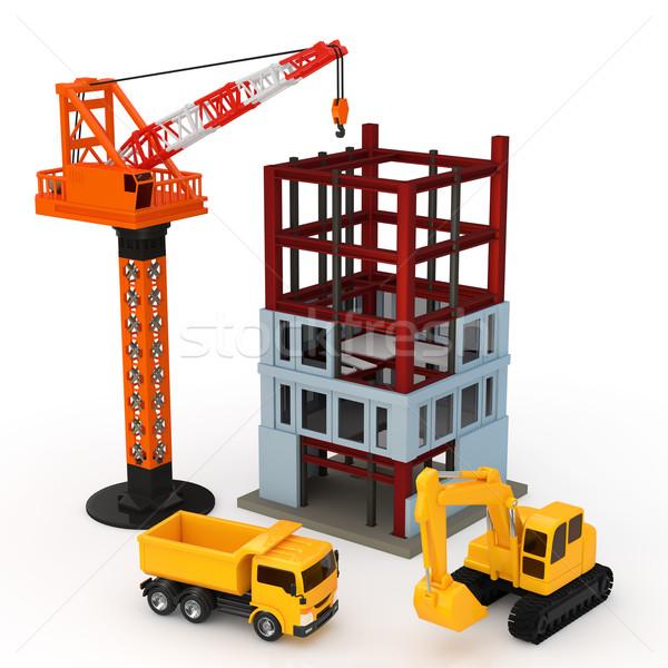 建設 家 建物 作業 ホーム 超高層ビル ストックフォト © taiyaki999