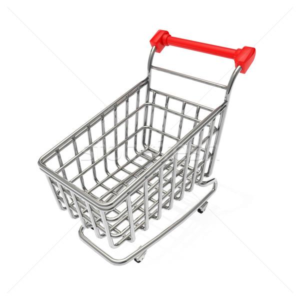 ショッピングカート 金属 市場 スーパーマーケット ストア 白 ストックフォト © taiyaki999