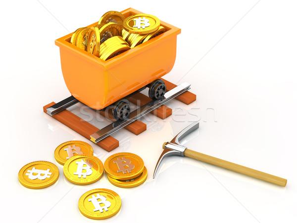 マイニング ビット コイン お金 インターネット 背景 ストックフォト © taiyaki999