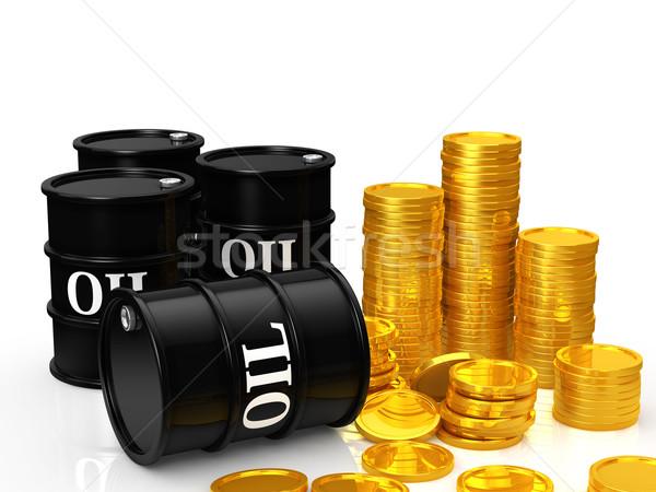 Olaj pénz háttér ipar energia erő Stock fotó © taiyaki999