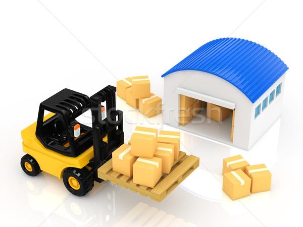 Raktár üzlet doboz ipari szolgáltatás gép Stock fotó © taiyaki999