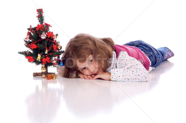 クリスマス 少女 かわいい 女の子 クリスマスツリー ストックフォト © Talanis