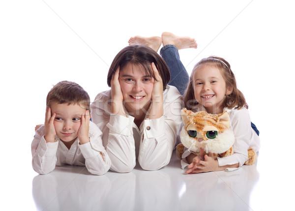 かわいい 家族 楽しい 少年 小さな 若者 ストックフォト © Talanis