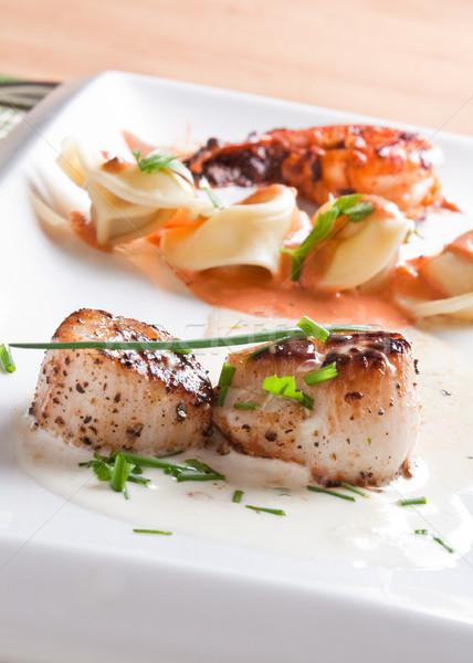 Roasted scallops Stock photo © Talanis