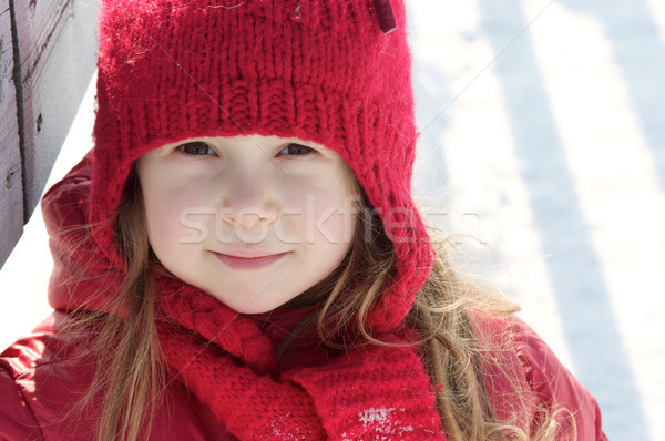 Girl in the snow Stock photo © Talanis