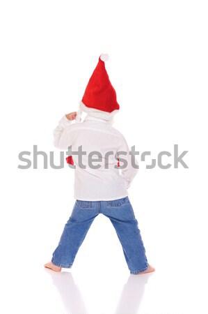 クリスマス 少年 かわいい 帽子 パーティ ストックフォト © Talanis