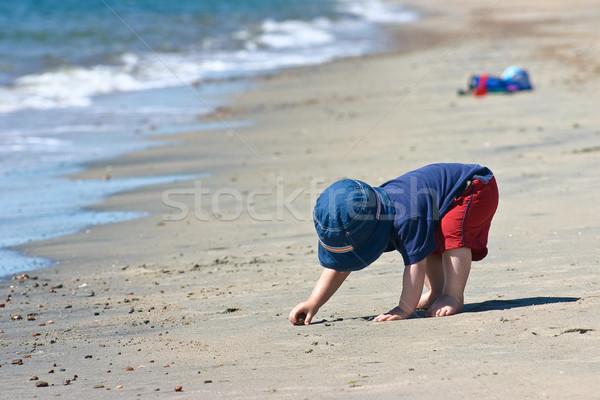 少年 ビーチ かわいい 演奏 水 ストックフォト © Talanis
