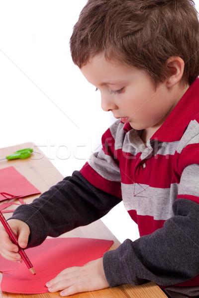 ストックフォト: 少年 · かわいい · 子供 · 図面