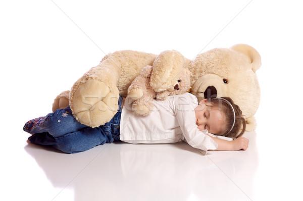 かわいい 女の子 テディベア 少女 セキュリティ ストックフォト © Talanis