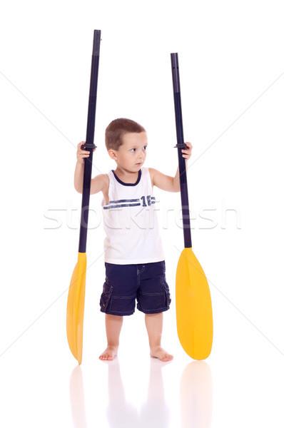 Cute little sporty boy Stock photo © Talanis