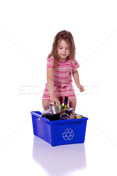 若い女の子 リサイクル かわいい 女の子 することができます 紙 ストックフォト © Talanis