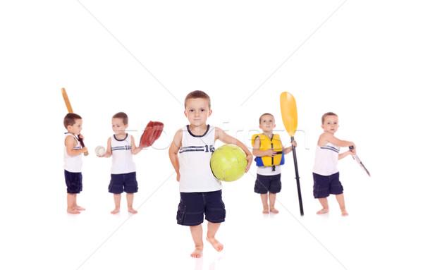 Cute мало мальчика играет различный Сток-фото © Talanis