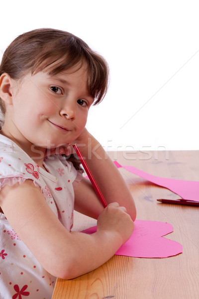 少女 かわいい 女の子 図面 ピンク ストックフォト © Talanis