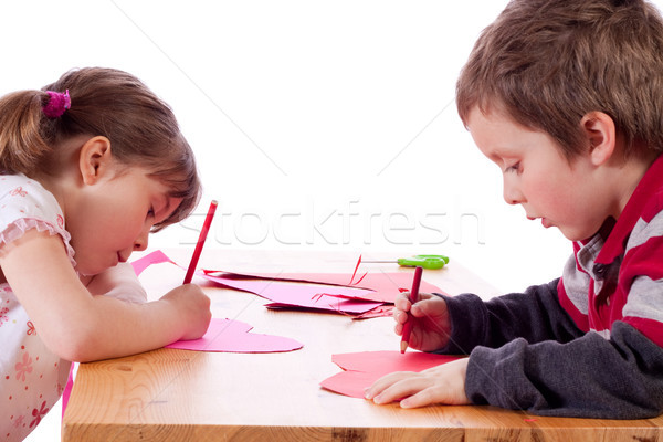 дети Cute девочку рисунок розовый Сток-фото © Talanis