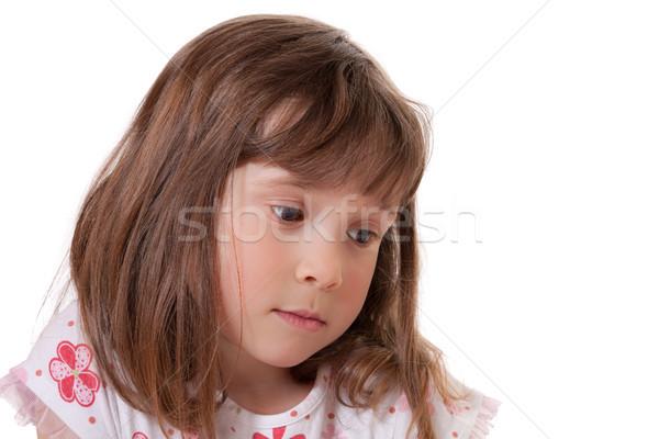 печально девочку Cute глядя девушки молодежи Сток-фото © Talanis