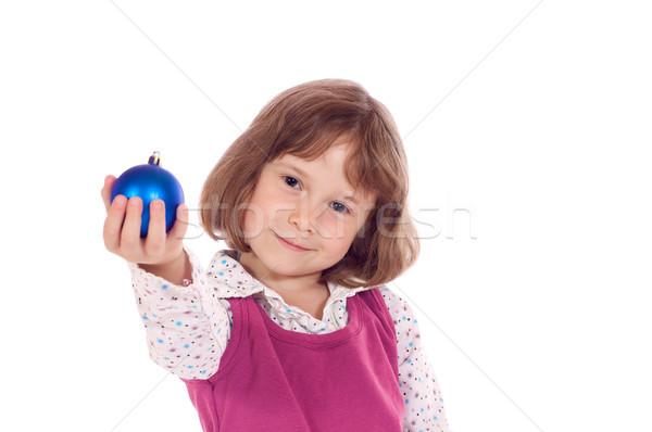 мало Рождества девушки Cute девочку мяча Сток-фото © Talanis