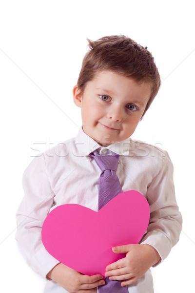 мальчика Cute мало розовый Сток-фото © Talanis